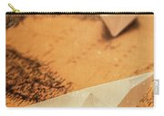 Closeup Toned Image Of Paper Boats On World Map Carry-all Pouch
