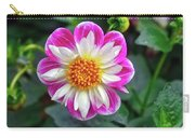 Closeup View Of A Dahlia That Was In The Cesky Krumlov Castle Gardens Carry-all Pouch