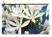 Closeup White Californian Flower Carry-all Pouch
