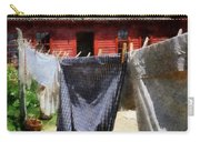 Clothes Hanging On Line Closeup Carry-all Pouch