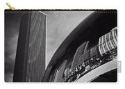 Cloud Gate And Aon Center Black And White Carry-all Pouch