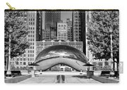 Cloud Gate Park Black And White Carry-all Pouch