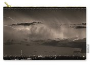 Cloud To Cloud Lightning Boulder County Colorado Bw Sepia Carry-all Pouch