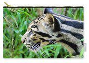 Clouded Leopard In The Grass Carry-all Pouch