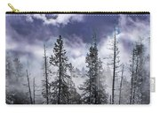 Clouds And Snow Swirling Carry-all Pouch
