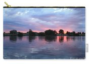 Clouds And Sunset Reflection In Prosser Carry-all Pouch