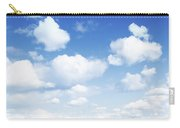 Clouds In Blue Sky Carry-all Pouch