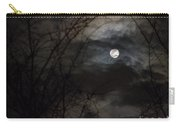 Clouds Passing The Snow Moon Carry-all Pouch