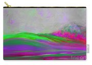 Clouds Rolling In Abstract Landscape Purple And Hot Pink Carry-all Pouch