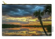 Cloudy Lake Sunset Carry-all Pouch