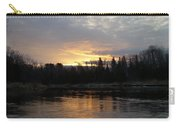 Cloudy Mississippi River Sunrise Carry-all Pouch