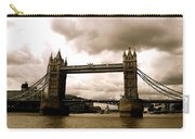 Cloudy Over Tower Bridge Carry-all Pouch