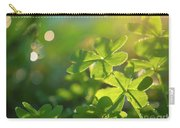 Clover Leaf In Garden, Macro Carry-all Pouch