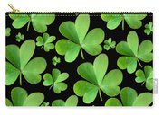 Clovers On Black Carry-all Pouch