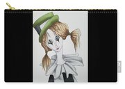 Green Hat Clown Carry-all Pouch
