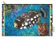 Clown Triggerfish-bordered Carry-all Pouch