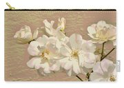 Cluster Of White Roses Posterized Carry-all Pouch
