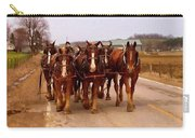 Clydesdale Amish Plow Team Carry-all Pouch