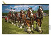 Budweiser Clydesdale Horses Carry-all Pouch