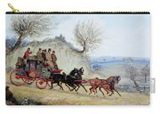Coaching Oil Of A Royal Mail Coach Crossing Landscape Carry-all Pouch
