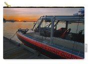 Coast Guard Response Boat At Sunset Carry-all Pouch
