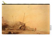Coastal Landscape With Fisherfolk Carry-all Pouch