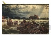 Coastal Landscape With Ships On The Horizon Carry-all Pouch