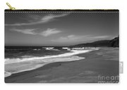 Coastline Black And White Carry-all Pouch