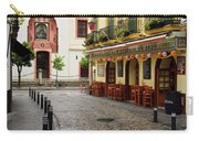 Cobblestone Argote De Molina Street With Cafe Ending At The Nort Carry-all Pouch