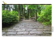 Cobblestone Path To Wood Bridge Carry-all Pouch