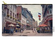 Cobblestone Streets In Old Montreal  Carry-all Pouch