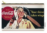 Coca-cola Ad, 1941 Carry-all Pouch by Granger