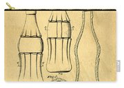 Coca Cola Bottle Patent Art 1937 Blueprint Drawing Carry-all Pouch