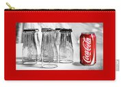 Coca-cola Glasses And Can - Selective Color By Kaye Menner Carry-all Pouch