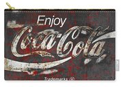Coca Cola Grunge Sign Carry-all Pouch by John Stephens