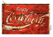 Coca Cola Square Soft Grunge Carry-all Pouch