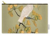 Cockatoo And Ginkgo Tree Carry-all Pouch