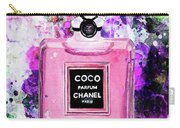 Coco Chanel Parfume Pink Carry-all Pouch
