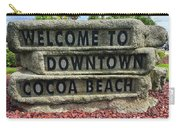 Cocoa Beach Welcome Sign Carry-all Pouch