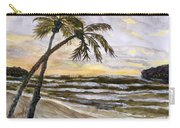 Coconut Palms On Cloudy Day Carry-all Pouch