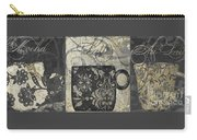Coffee Flavors Gold And Black Carry-all Pouch