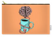 Coffee For The Brain Funny Illustration Carry-all Pouch