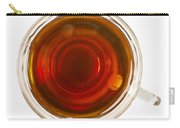 Coffee In Glass Cup From Directly Above Carry-all Pouch