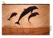 Coffee Painting Dolphins Playing Carry-all Pouch