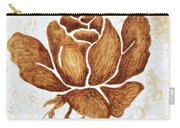 Coffee Painting Rose Blooming Carry-all Pouch