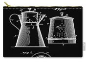 Coffee Pot Patent 1916 Black Carry-all Pouch