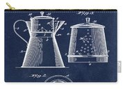 Coffee Pot Patent 1916 Blue Carry-all Pouch