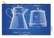 Coffee Pot Patent 1916 Blue Print Carry-all Pouch