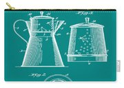 Coffee Pot Patent 1916 Green Carry-all Pouch