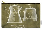 Coffee Pot Patent 1916 Grunge Carry-all Pouch